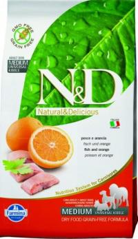 N&D Fish & Orange Adult Рыба/Апельсин