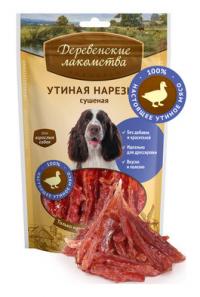Деревенские лакомства Утиная нарезка сушеная для собак
