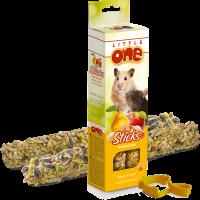 Little One. Палочки для хомяков, крыс, мышей и песчанок с фруктами и орехами