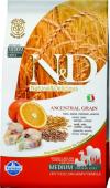 N&D Low Grain Codfish & Orange Adult для собак мелких пород