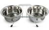 Миска Триол металлическая двойная с подставкой 2* 2,8 л. (9005)
