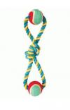 Triol XJ0111 Игрушка для собак, веревка-восьмерка (узел, 2 мяча)