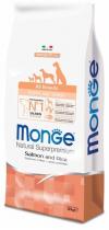 Monge Dog Speciality для щенков всех пород лосось/рис