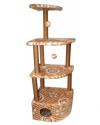 Домик-когтеточка для кошек Угловой 4-х ярусный, джут 550х480х1580 (Д432)