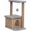 Домик-когтеточка для кошек Квадратный двухэтажный, лоза, джут 500х360х750 Д127Л